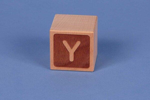 Letter cubes Y negative