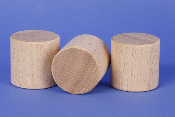cylinder of beechwood Ø 2 inches x 2 inches
