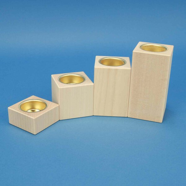 wooden candle holder advent maple