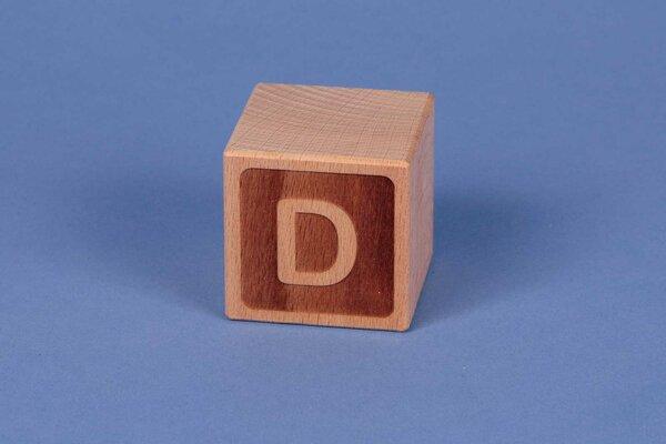 Letter cubes D negative