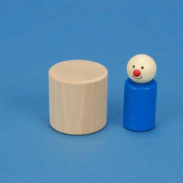 cylinder of beechwood Ø 5 x 5 cm