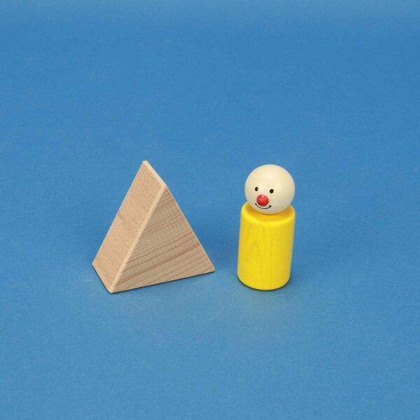 wooden triangular pillar 6 x 6 x 3 cm isosceles