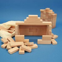 Set of 100 wooden blocks from the 3 x 1,5 cm series