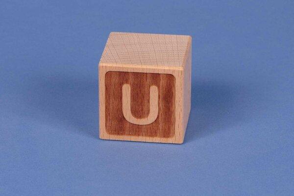 Letter cubes U negative