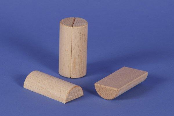 wooden half pillar Ø 3 x 6 cm