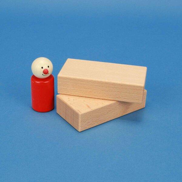 wooden blocks 10 x 5 x 2,5 cm