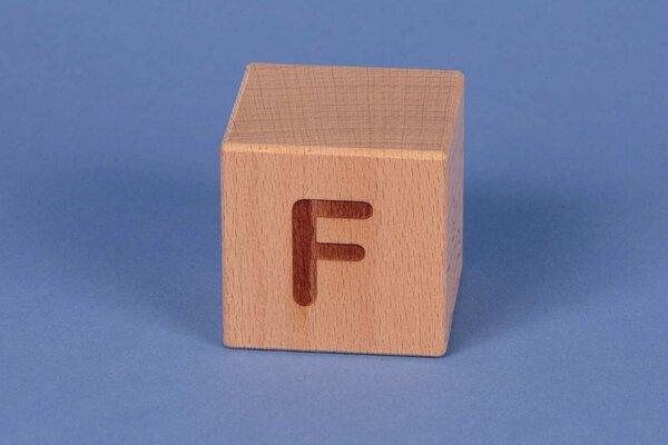 Letter cubes F positive