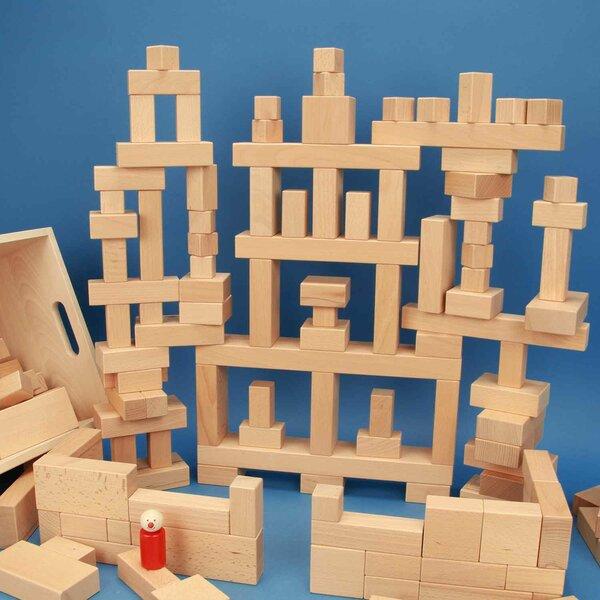 wooden blocks set 140 in beechwood-box