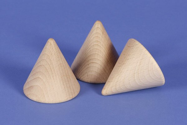 large Cone made of beech 6 cm