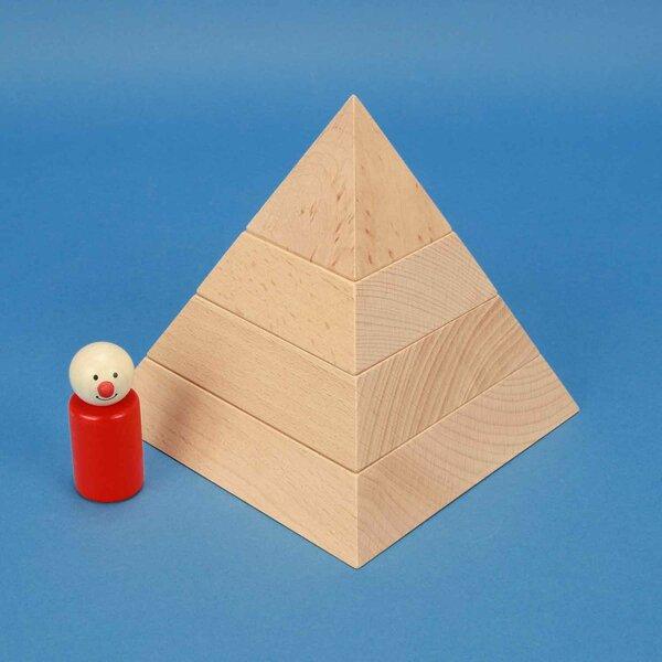 large square base pyramid 15 x 15 x 15 cm