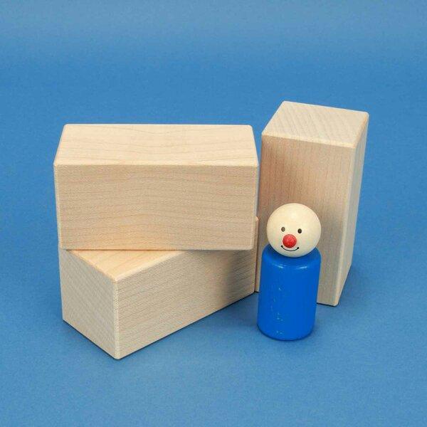 maple wooden blocks 9 x 4,5 x 4,5 cm