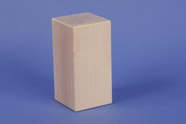 maple wooden blocks 9 x 4,5 x 4,5 cm