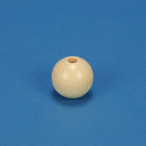 wooden macrame beads beech Ø40mm - 10mm drilled