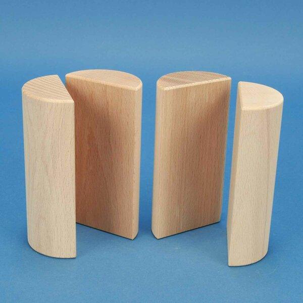 wooden half pillar Ø 6 x 12 cm