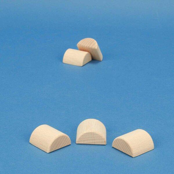 wooden half pillar Ø 3 x 3 cm