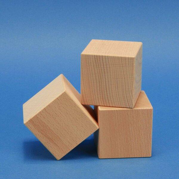 wooden cubes beechwood 4,5 cm