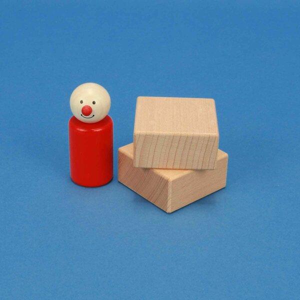 wooden blocks 5 x 5 x 2,5 cm
