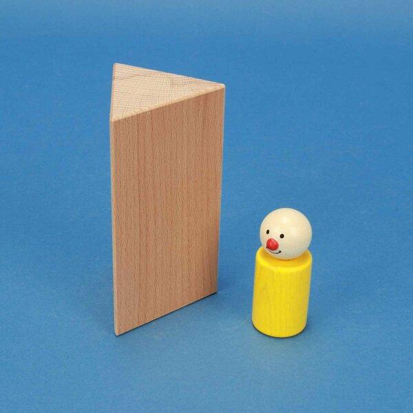 wooden triangular pillar 6 x 6 x 12 cm isosceles