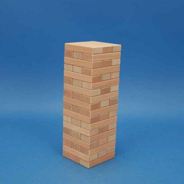 Wobbly Tower from wooden blocks