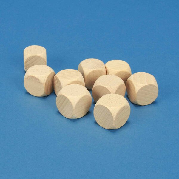wooden dices blank 2,5 cm