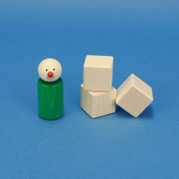 wooden cubes maple 3 cm