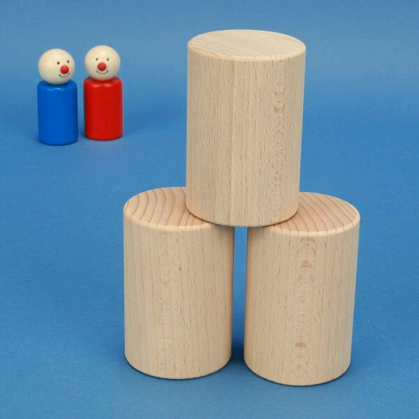cylinder of beechwood Ø 5 x 7,5 cm