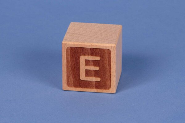 Letter cubes E negative