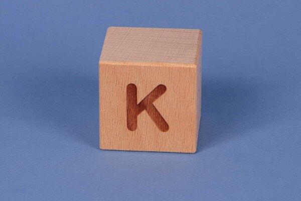 Letter cubes K positive