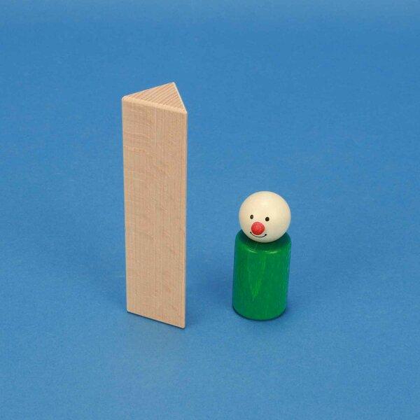 wooden triangular pillar 3 x 3 x 12 cm