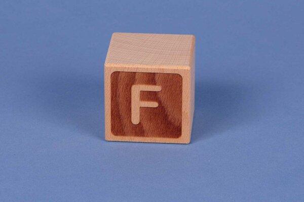 Letter cubes F negative