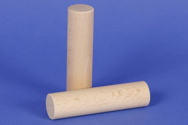 cylinder of beechwood Ø 1 inch x 4 inches