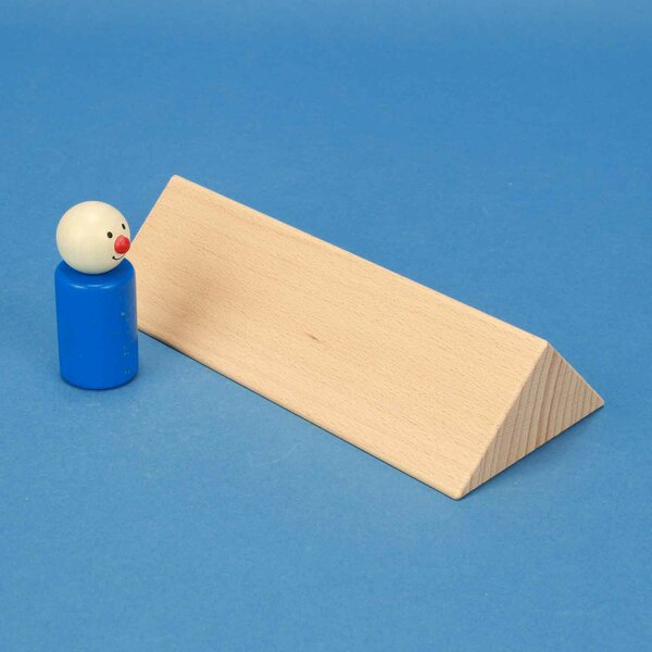 wooden triangular pillar 6 x 6 x 18 cm rectangular