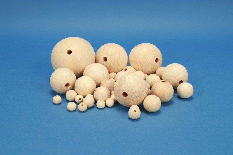 DIY-full drilled wooden balls