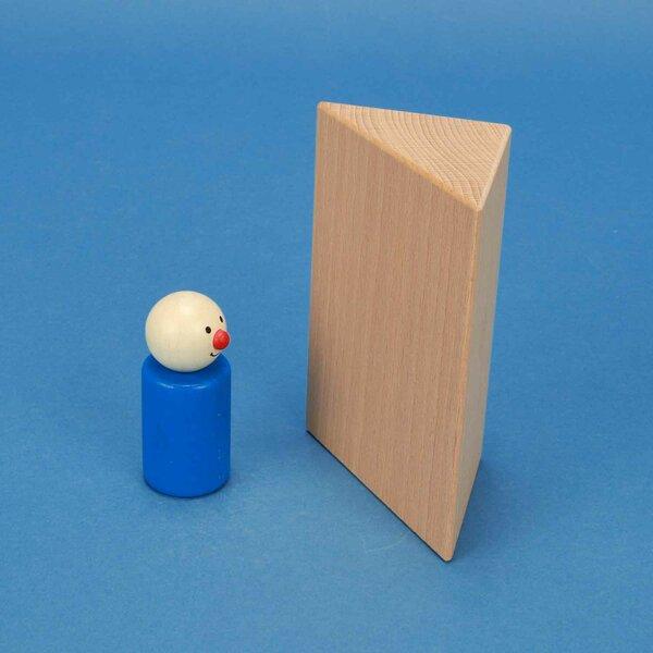 wooden triangular pillar 6 x 6 x 12 cm rectangular