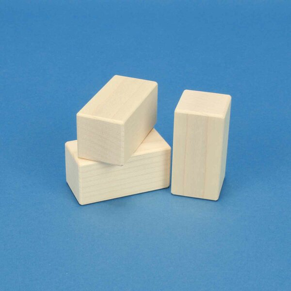 maple wooden blocks 6 x 3 x 3 cm