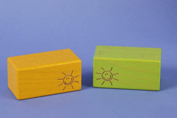 wooden blocks green SMILE 6 x 3 x 3 cm