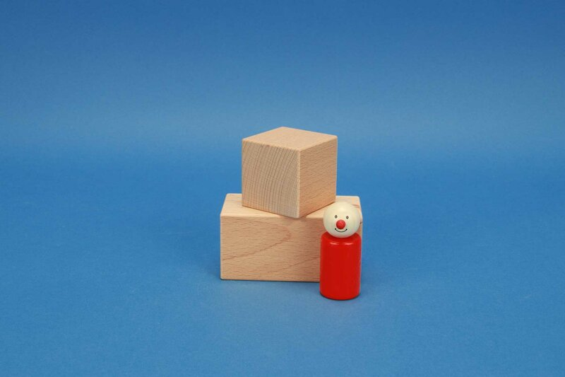 wooden blocks 5 x 5 cm