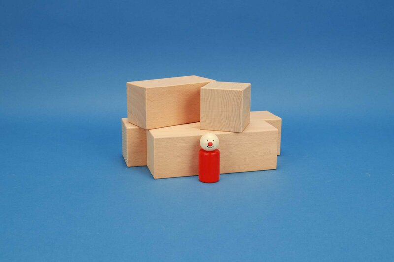 Large building blocks 6 x 6 cm