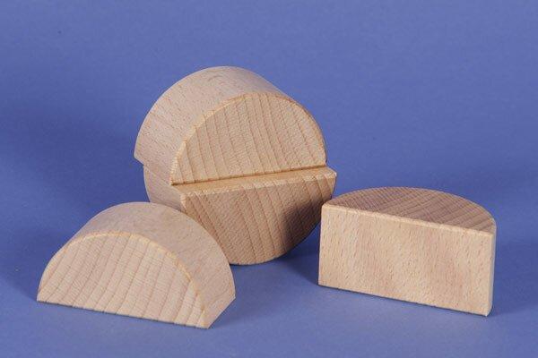 wooden half pillar Ø 6 x 3 cm
