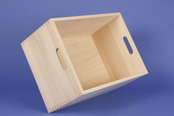 Beechwood box large without wooden blocks