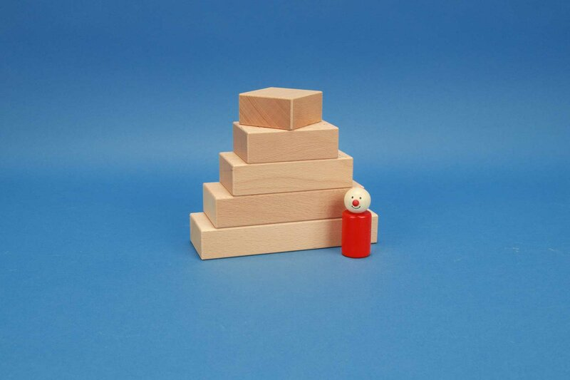 Fröbel-wooden blocks 6 x 3 cm