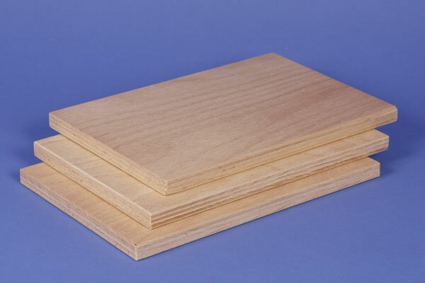3 small beech plywood panels