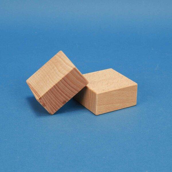 wooden building blocks 6 x 6 x 3 cm
