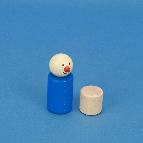 cylinder of beechwood Ø 2,5 x 2,5 cm