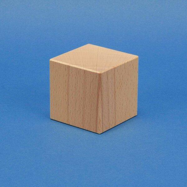 wooden cubes beechwood 4 cm
