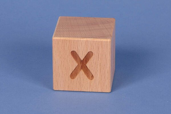 Letter cubes X positive
