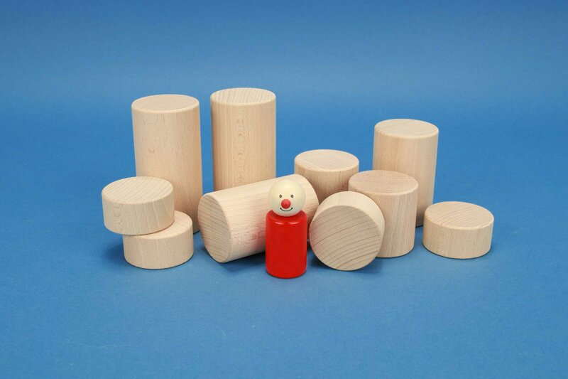 round wooden pillars Ø 2 inches