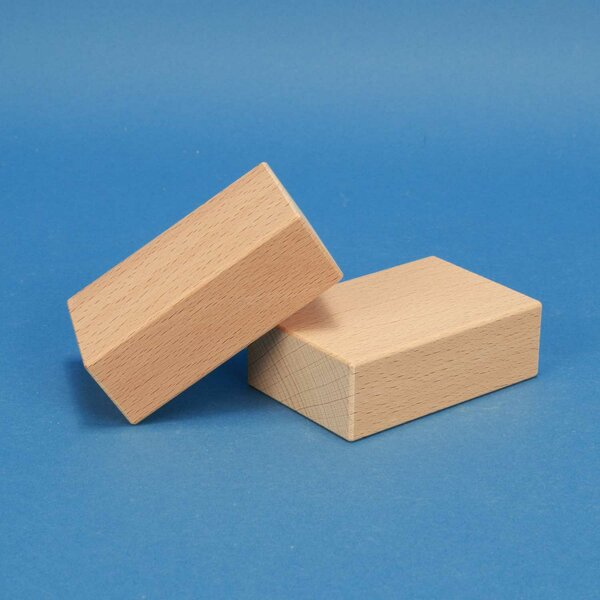 wooden blocks 9 x 6 x 3 cm