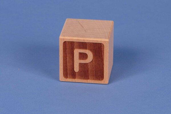 Letter cubes P negative