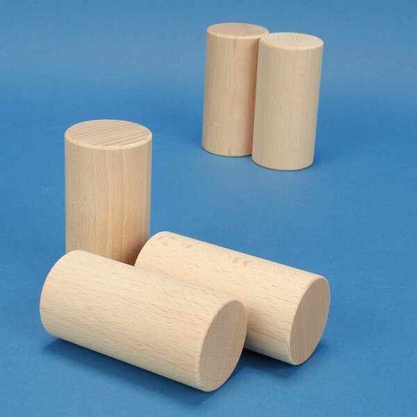 beechwood cylinder Ø 4,5 x 9 cm